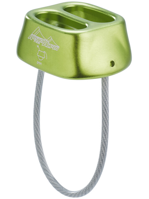 AustriAlpin Tuber Standard Belay Device lime-green anodized